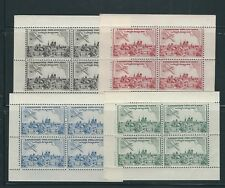 FRANCE 1943 PARIS AEROPHILATELY EXPOSITION 4 sheets of 4 VF MNH *CINDERELLA*