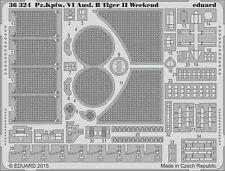 Eduard 1/35 Pz.Kpfw.VI Ausf.B Tiger II Weekend Upgrade Set # 36324