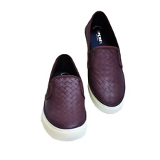 NEW Sperry Top-Sider Seaside Weave Women 9.5 40.5 Sneakers Shoes Slip On Wine