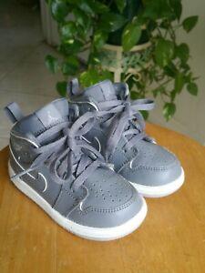Nike Air Jordan 1 Cool Grey Wolf White 640735-031 Toddler Size 6C