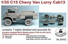 LZ MODELS C15 CHEVY CAB 13 + 2X4 RESIN DRIVE CONVERSION SET Scala 1/35 Cod.35432