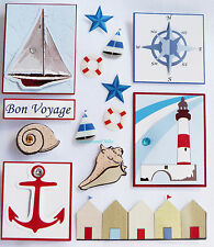 Paper Cellar 3D Nautical Blue Embelishment, Toppers, Adhesive, 5 060123 677706