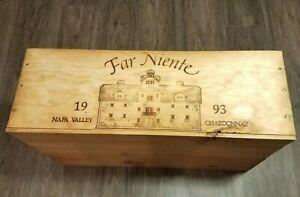 Wine Box Case Wooden Crate - Far Niente 1993 - Napa Valley Chardonnay