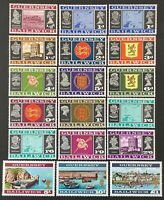 Bailiwick of Guernsey. Definitives Full Set Unmounted SG13/28a.  MNH. (Y171)