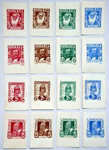 Czechoslovakia 1919 - Essays 34 pcs for first anniversary of republic