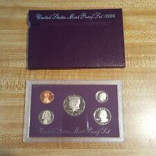 1990 United States Mint Proof Set Coin Purple Collectors Numismatic Vintage