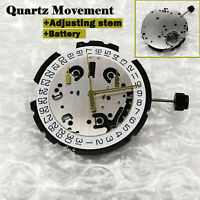 Mouvement de montre Suisse ETA G10.211 Quartz+Batterie Date à 4' 6 Broches Kits