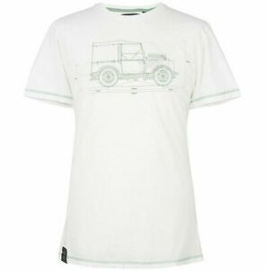 Genuine Men's Land Rover Hue Graphic T-Shirt White 51LDTM558WT