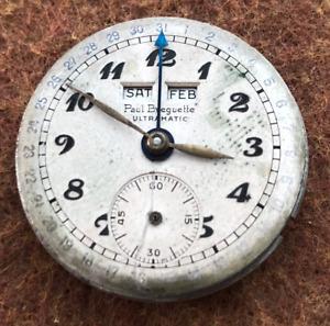 Vintage Paul Breguette Ultramatic Watch Movement Triple Date Bumper Automatic
