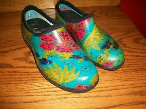 Sloggers Waterproof Garden Shoes Floral Print Size 8 Women's Garden Slip-On's