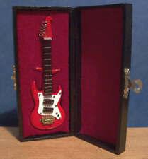Miniature Electric Washburn Guitar Ornament Music Instrument Musical in Box LGW