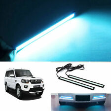 Car Waterproof ICE Blue Cob LED Fog DRL Daytime Light 6000K For MAHINDRA SCORPIO