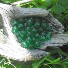 50 Perles de Bohème en verre 8 mm (vert)
