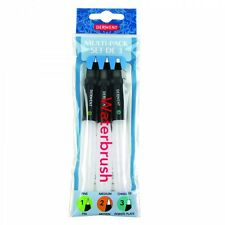Derwent Water Brush Multipack Set of 3 Paintbrushes - Fine, Medium & Chisel Tip