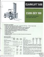 Fork Lift Truck Brochure - Clark - C500 (H)Y 100 - 10,000 lbs - c1972 (LT152)