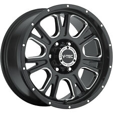 4 - 17x8.5 Black Vision Fury Rim 6x5.5 (6x139.7) +0 Offset 399-7883MS0