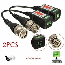 2Pcs CCTV Camera Passive Video Balun BNC Connector Coaxial Cable Adapter DVR UTP