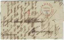 Jamaica 1844 printed market report very fine red Jamaica Paid double arc