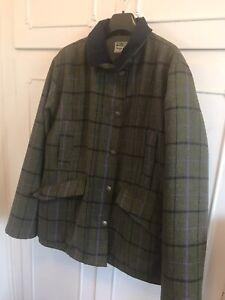 Hoggs Of Fife Ladies Tweed Hunting Shooting Jacket, Coat Field Pro 16. New