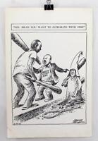 "Rare 1966 Martin Luther King Frank Miller Editorial Cartoon Print ~ 19"" x 12.5"""
