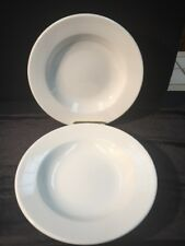 William Sonoma Soup-Pasta Bowls White Set Of 2 Oven Broiler Microwave Safe EUC
