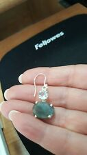 Shivam Made in India .925 Sterling Silver Labradorite  Earrings - NEW