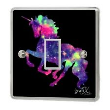 Unicorn Multi colour Light Switch Sticker Vinyl/Graphics/Decal/Skin Cover sw23