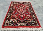 Authentic Hand Knotted Vintage indo Wool Area Rug 2 x 1 FT (11950 KBN)