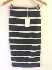 [CR LOVE]​ NEW! SZ XXS (6) [COUNTRY ROAD] PONTE BLOCK STRIPE SKIRT