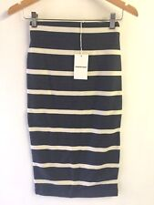 Country Road Ponte Block Striped Skirt Navy Blue White XXS ● GUC REDUCED
