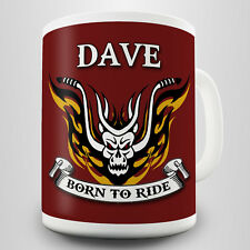 Born To Ride Personalised Gift Mug - Perfect gift for the biker
