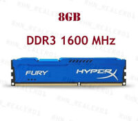 4GB 8GB 16GB 32GB DDR3 1600 1333 1866MHz DIMM RAM For Kingston HyperX FURY Lot U