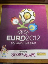 2010 European Championships: Poland/Ukraine - Official Panini Sticker Album, Unu