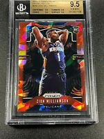 ZION WILLIAMSON 2019 PANINI PRIZM #248 RED ICE REFRACTOR ROOKIE RC ALL BGS 9.5