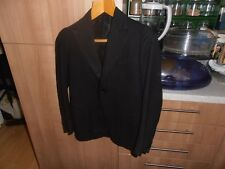 1920s Bespoke Single Breasted Black Tie  Dinner Jacket size 30""