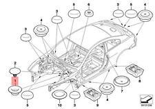 Genuine BMW E36 E46 E53 E60 Sealing Blind Plug D=18MM x25 pcs OEM 51718226004