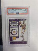 2019 Lebron James Contenders #70 Season Ticket PSA 10💎MNT Los Angeles Lakers 🏀