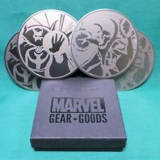 Doctor Strange Stainless Steel Coaster Set of 4 Loot Crate Marvel Gear Exclusive