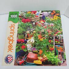 "Springbok 1000 Piece ""Garden Delights"" Jigsaw Puzzle 24""X30"" Flowers Plants"