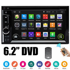 "Double Din Car Stereo 6.2"" DVD CD Touch Screen Radio Mirror Link For GPS Android"