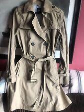 Womens Gap Camel Trench Coat Size L