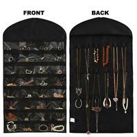 Closet Hanging Jewelry Organizer Necklace Storage Holder Travel Display CaseBags