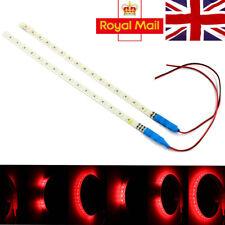 2x 30 cm sequenziale flessibile striscia LED luce di segnale auto Vano Piedi Impermeabile Rosso