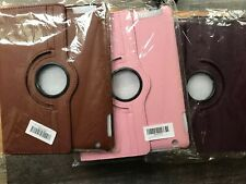 360 Degrees Cases For Apple iPad  2 3 4 Pink, Brown, & Purple New 3 Total