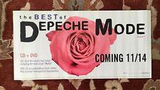 Depeche Mode The Best Of rare original advance promotional poster