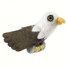 Handmade Bald Eagle Bird Ornament.  Merino Wool . Fair Trade Made in Nepal