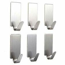 Steel Self-Adhesive Hooks, 1 Kg Load Capacity, 6 Pieces Set