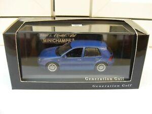 Volkswagen VW Golf IV 1997 2004 blue Minichamps MIB 1:43 polo santana passat