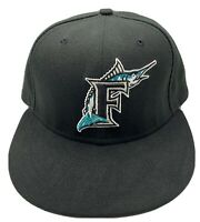 Florida Marlin's New Era 59fifty Authentic Collection Black Brim 7 1/4 Hat Cap