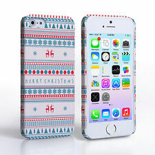 Caseflex For iPhone 5 / 5S Mini Merry Christmas Reindeer Snowflake Case Cover UK